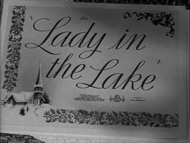 Lady in the lake (1947) movie title