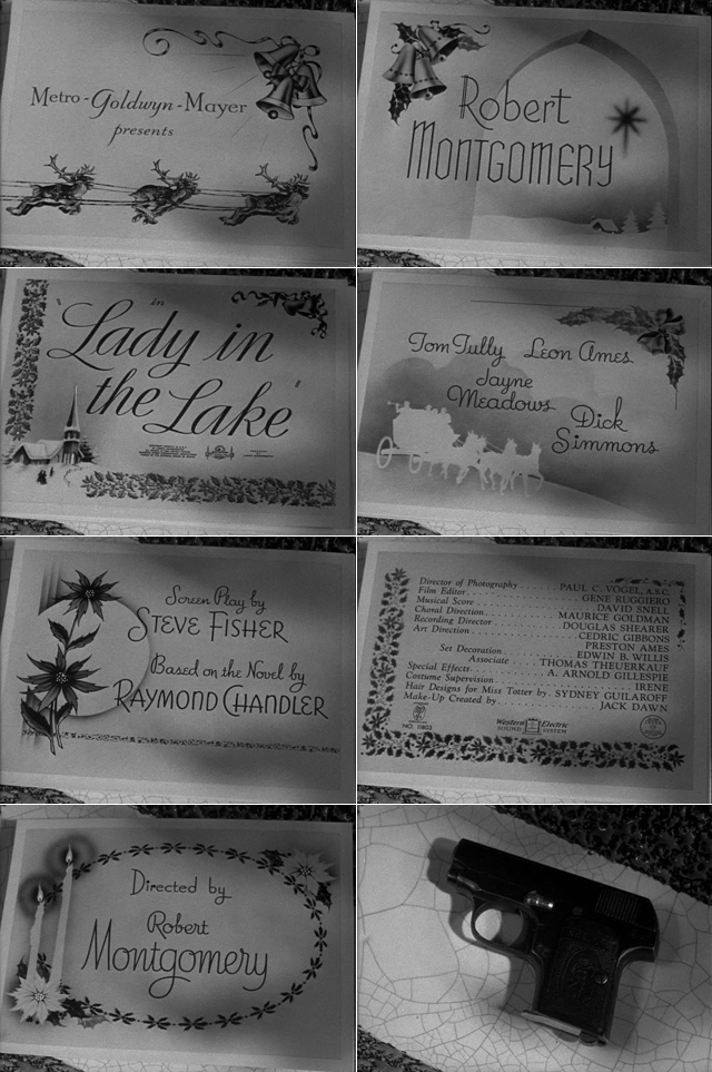 Lady in the lake (1947) title sequence