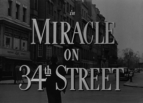 Miracle on 34th Street (1947) Blu-ray Christmas movie title