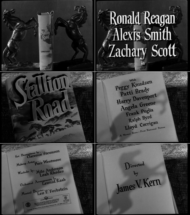 Stallion Road (1947) title sequence