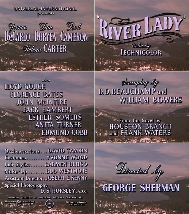 River Lady (1948) opening credits