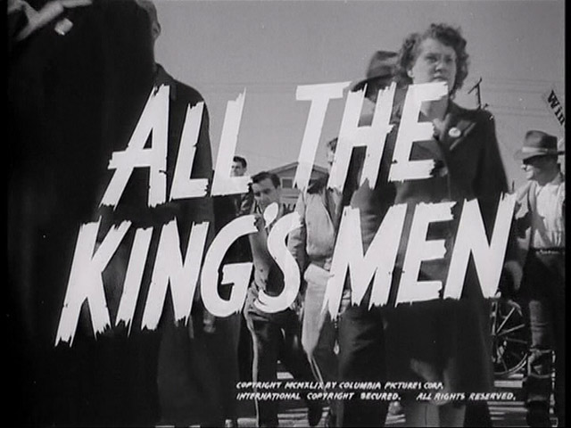 all kings men All the king's men (warren) - acting edition [robert penn warren] on amazoncom free shipping on qualifying offers note: this is a play version (acting.