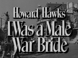 I Was a Male War Bride (1949) Cary Grant - blu-ray movie title