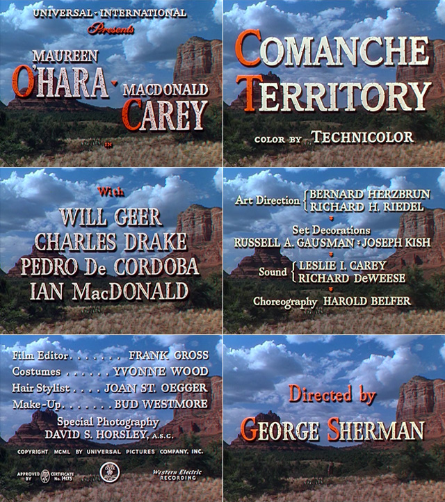 Comanche Territory (1950) opening credits