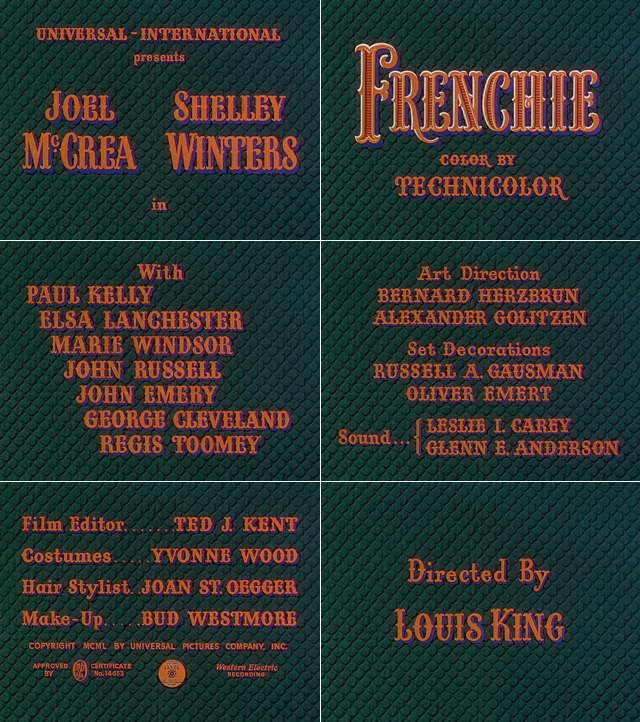 Frenchie (1950) opening credits