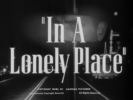In a lonely place (1950) Humphrey Bogart - blu-ray movie title