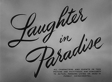 Audrey Hepburn: Laughter in Paradise (1951) title sequence