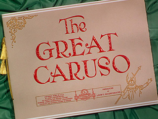The Great Caruso (1951) title sequence