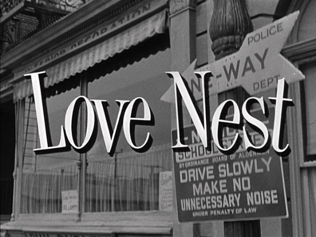 Love Nest 1951 movie title