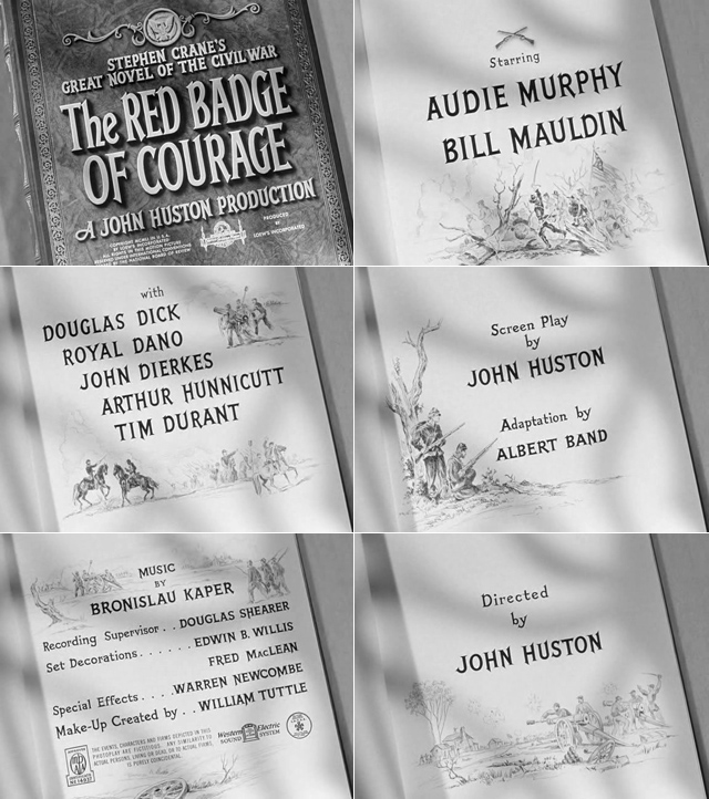 The Red Badge of Courage (1951) title sequence