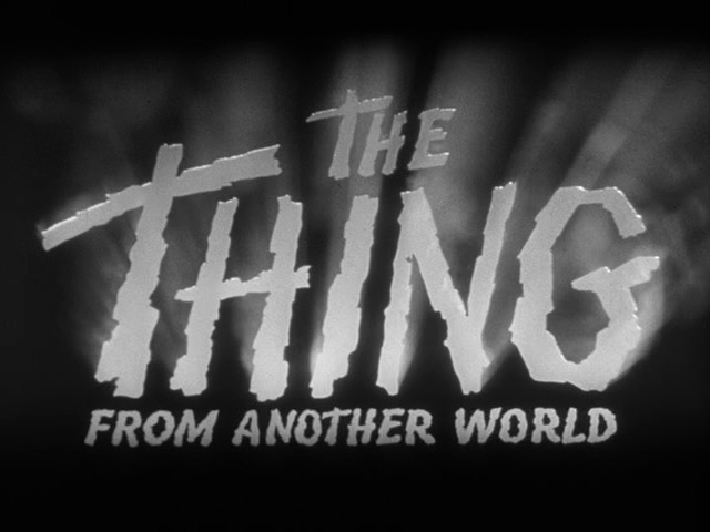 The Thing from Another World 1951 movie title