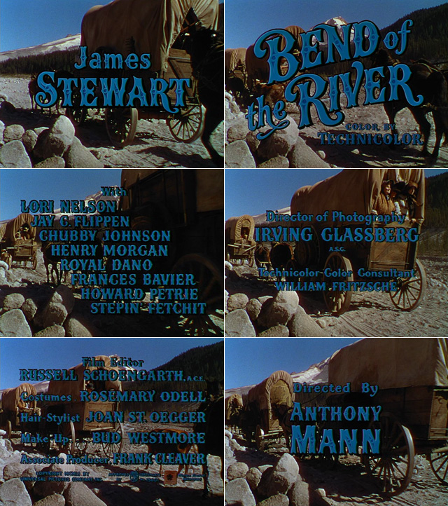 Bend of the river (1952) opening credits