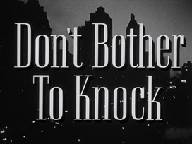 Don't Bother to Knock (1952) Marilyn Monroe - blu-ray movie title