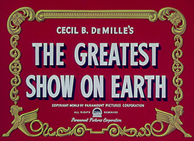 James Stewart: The Greatest Show on Earth (1952) title sequence