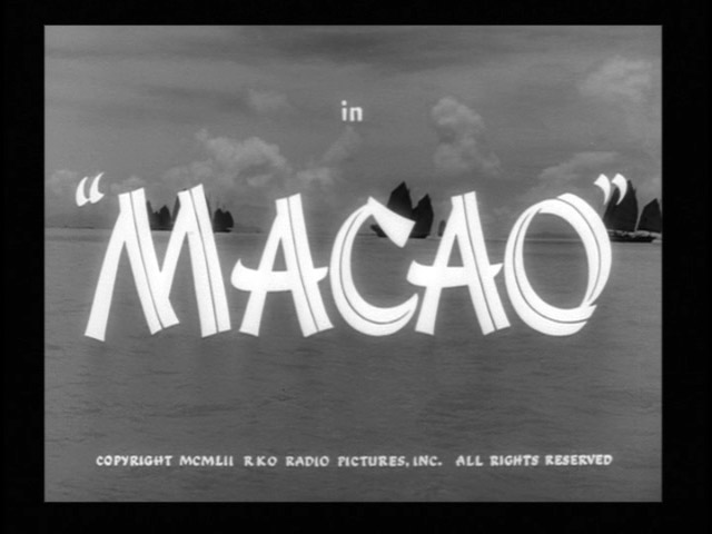 Macao 1952 movie title