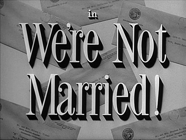 We're Not Married! movie title screen shot