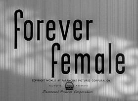 Forever Female (1953) Ginger Rogers - Blu-ray movie title