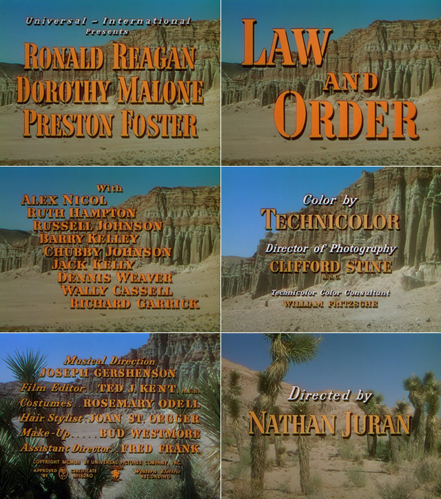 Law and Order (1953) opening credits