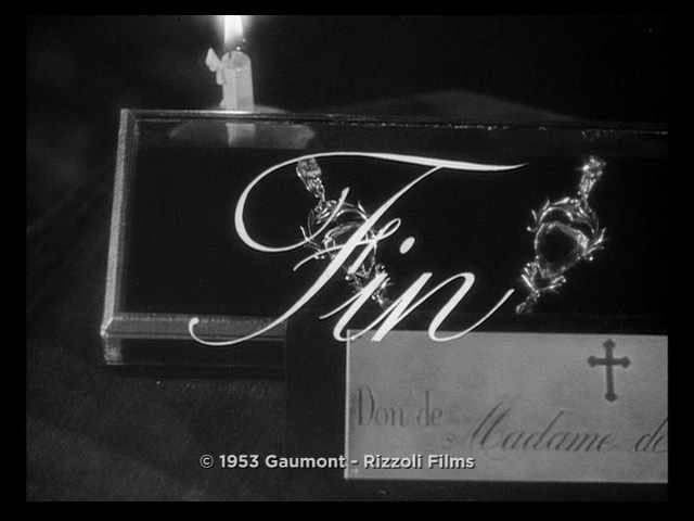 The Earrings of Madame de... movie end title