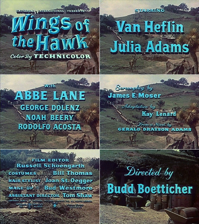 Wings of the Hawk (1953) opening credits