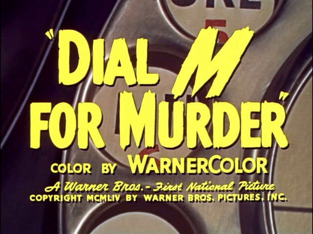 Dial M for Murder movie trailer title