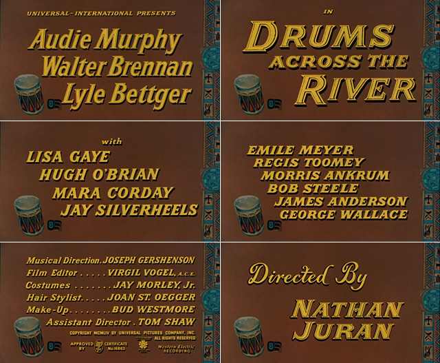 Drums Across the River (1954) opening credits