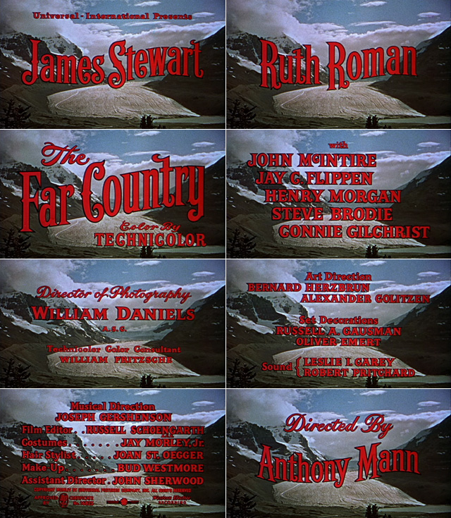 The far country (1954) opening credits