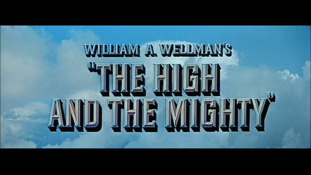 The High and the Mighty (1954) movie title