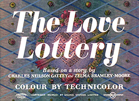 The Love Lottery (1954) Humphrey Bogart - title sequence