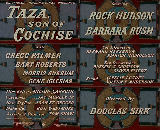 Taza, Son of Cochise (1954) opening credits