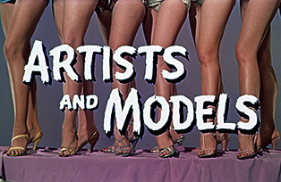 Artists and Models (1955) Jerry Lewis - blu-ray movie title