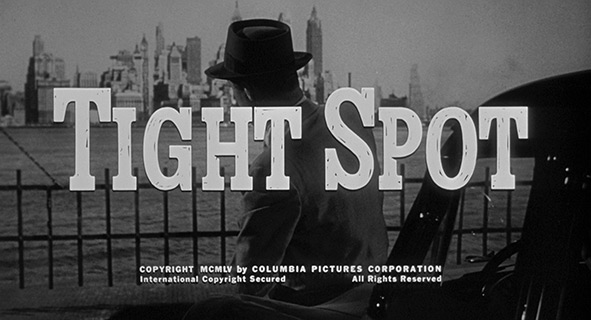 Ginger Rogers: Tight Spot (1955) title sequence