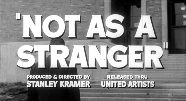 Not as a Stranger (1955) trailer title