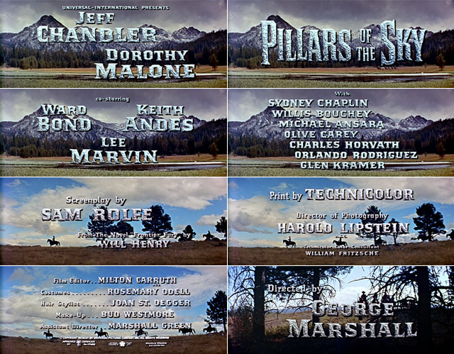 Pillars of the Sky (1956) opening credits