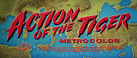 Action of the Tiger (1957) Sean Connery - blu-ray movie title