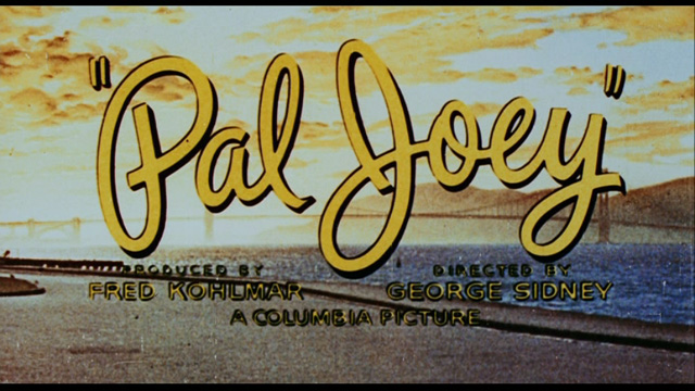 Pal Joey movie trailer title