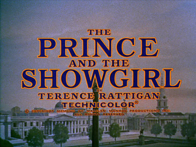 The Prince and the Showgirl movie title