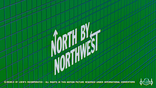 Saul Bass title sequence North by Northwest 1959