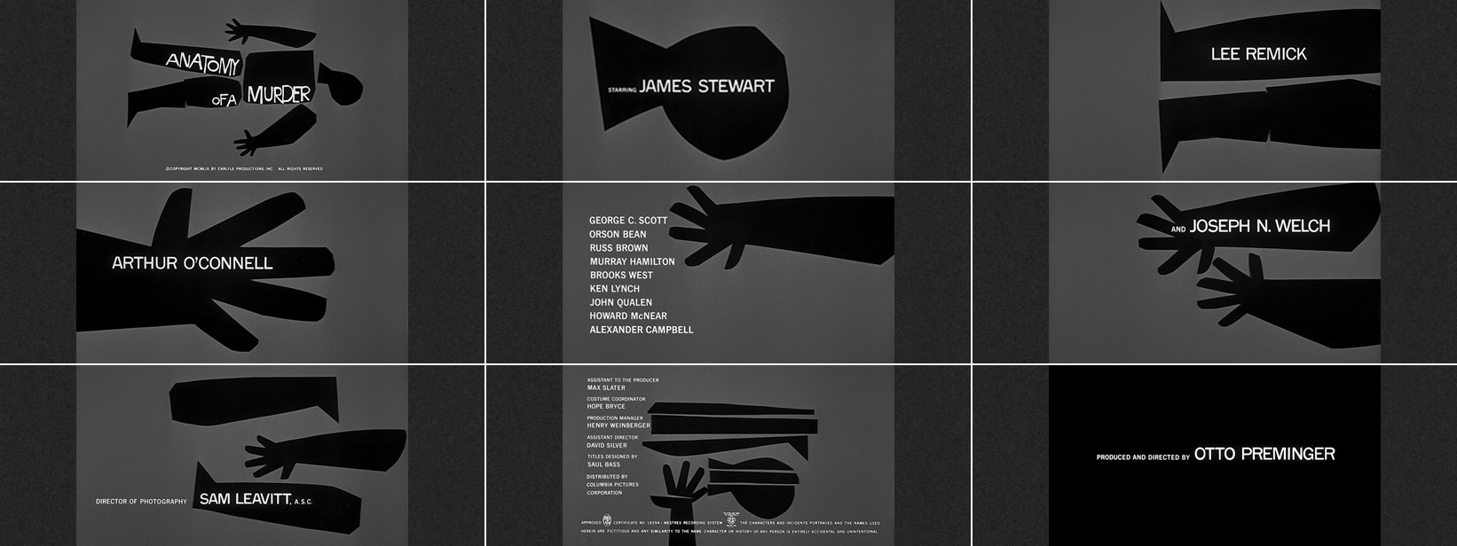 Saul Bass Title Sequences The Movie Title Stills Collection