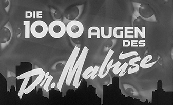 Die 1000 Augen des Dr. Mabuse / The Thousand Eyes of Dr. Mabuse (1960) Fritz Lang - blu-ray movie title