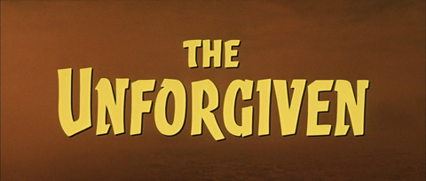 The Unforgiven (1960) Burt Lancaster - blu-ray movie title