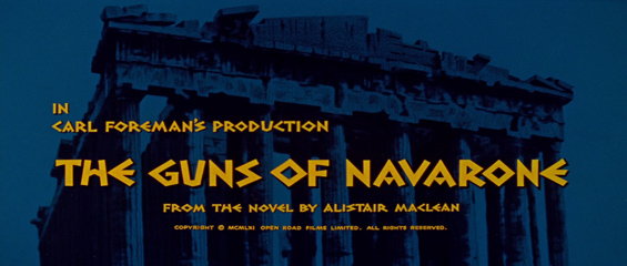 The Guns of Navarone (1961) Gregory Peck - Blu-ray movie title