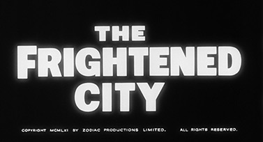Sean Connery: The Frightened City (1961) title sequence