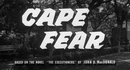 Cape Fear (1962) Gregory Peck - Blu-ray movie title