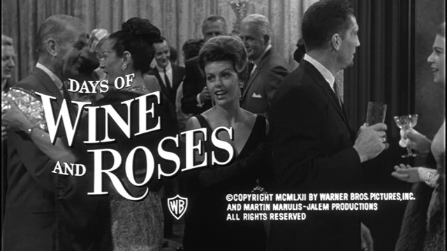 Days of Wine and Roses movie trailer title