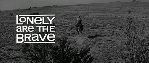 Lonely Are the Brave (1962) Kirk Douglas - Blu-ray movie title