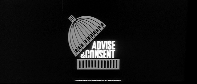 Saul Bass title sequence Advise & Consent 1962