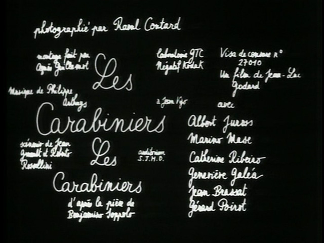 Les carabiniers 1963 movie title