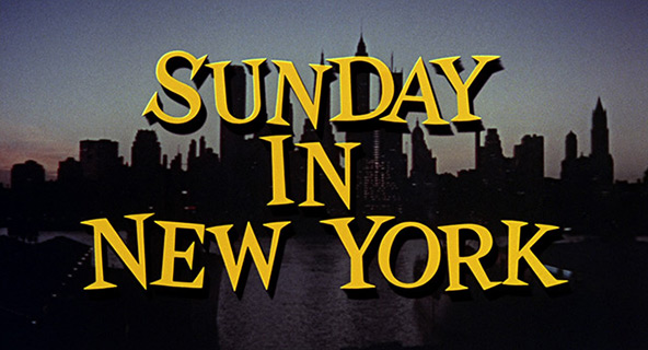 Jane Fonda: Sunday in New York (1963) title sequence