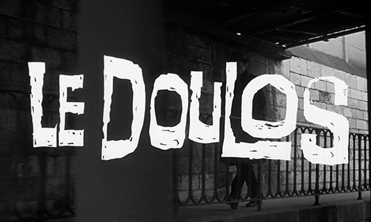 Jean-Paul Belmondo: Le Doulos / The Finger Man (1963) title sequence